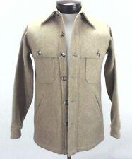 WOOLRICH Jacket Wool Blend Heather Beige Shirt Vintage Men's XS Women's S $179
