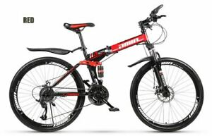 High Carbon Bicycle Full Suspension Disc Brake Folding Mountain Bike 21 Speed