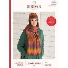Sirdar Jewelspun  Paper Knitting Pattern 10027 Hat / Scarf