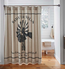 SAWYER MILL WINDMILL Shower Curtain Farmhouse Country Grain Feed sack VHC Brands