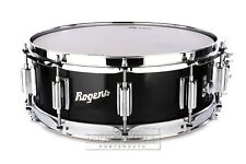 Rogers Dyna-sonic Wood Shell Snare Drum 14x5 Black Lacquer
