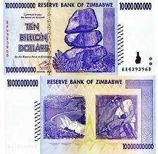 ZIMBABWE 10 Billion Banknote World Paper Money UNC Currency Pick p85 Inflation