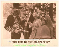 THE GIRL OF THE GOLDEN WEST LOBBY CARD size 11x14 MOVIE POSTER 4 Card's R1962