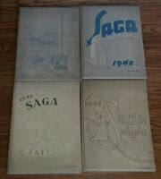 Lot of 4 Woodward High School Yearbook  Toledo Ohio OH WWII 1944 1945 1946 1947
