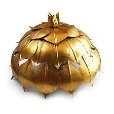 antike Wandlampe goldene Blätter effektvolle große Kuppel Deckenlampe Wandlampe