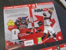 NBA 2K18: DVD box Sleeve PS4, Xbox 360 & One, Nintendo Switch