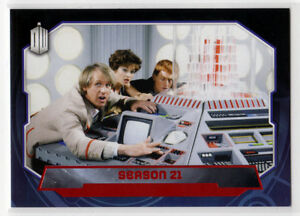 Topps Doctor Who 2015 Red Foil Parallel Base Card #186 Season 21 - 02/50