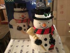 Snowman by Oggi ceramic cookie jar