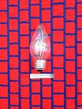 BOX of 12 new swirl 25F15 CLEAR FLAME 25FM flair F15 light BULB 25 watt 25w ~ GE