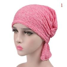 Women Chiffon Ruffle Cancer Chemo Hat Beanie Scarf Turban Head Wrap Cap hot