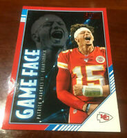 """2020 Score (Game Face) Patrick Mahomes II """"RED Parallel"""" K.C. Chiefs  MVP  """"WOW"""""""