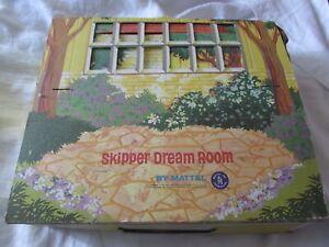 1964 SKIPPER DREAM ROOM cardboard doll house furniture/accessories Mattel Barbie