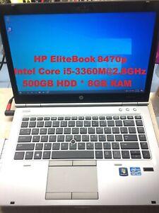 "HP EliteBook 8470p_Intel Core i5-3360M@2.80GHz_500GB HDD_8GB RAM_14.0"" Screen"