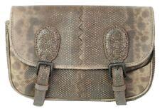Bottega Veneta Satchel Clutch Bag Brown Python Snakeskin Medium RRP £610
