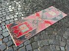 Runner Rug, Turkish rug, Vintage rug, Hallway rug, Wool rug | 2,0 x 5,4 ft