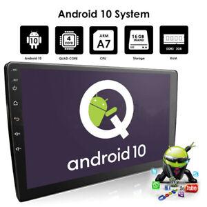 "10.1"" 2Din Android 10 Car Stereo Radio GPS Navi DSP 2GB+16GB Wifi BT Quad core"