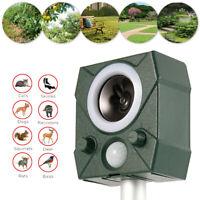 Ultrasonic Solar Power Repellent Garden Cat Dog Bat Bird Pest Animal Repeller