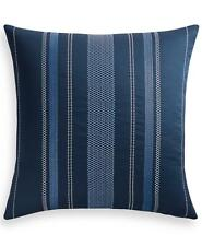 Charter Club Damask Embroidered Lattice 300 Tc Cotton Euro Pillow Sham Navy $85