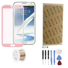 Samsung Galaxy Note 2 N7100 LTE Glas Scheibe Front Touch Glass Touchscreen Pink