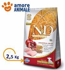 Farmina N&D Low Grain Puppy Mini Pollo e Melograno da 2,5 Kg - Crocchette cani