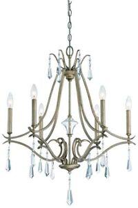 Minka Lavery 4446-582 Laurel Estate 6-Light 1-Tier Chandelier - Brio Gold