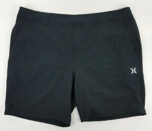 Hurley Active Fit 18.5 Length Athletic Shorts Clothing Men's 2XL Black NEW B30