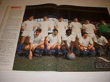 FOOTBALL COUPURE PRESSE FM20 COULEUR 48x32 1968/69 OM MARSEILLE