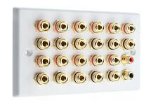 11.2 Surround Sound Audio AV Speaker Wall Face Plate - Dolby Atmos NON SOLDER