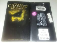 The Texas Chainsaw Massacre Vhs Re-Make Horror Release Plays Excellent