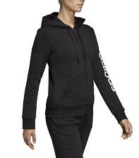 Adidas Felpa Donna Essentials Linear Fleece Nera Taglia M cod Dp2417 - 9w