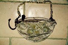 ROBERTO CAVALLI  authentique sac à main intérieur panthère déco perles NEUF