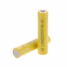 2pcs 3A AAA 1.2 V 600mAh Ni-MH NiMH Rechargeable Battery ,Yellow