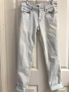 RARE! Victorias Secret Boyfriend Light Wash Distressed Stretch Jeans 2