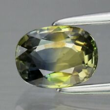 Glowing! 1.01ct 6.6x5mm VS Oval Natural Unheated Blue & Greenish Yellow Sapphire
