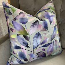 "Designer Cushion Cover 16"" Voyage Brympton Fabric Grey Purple Pink Decor"