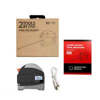 2in1 98ft/30m Laser Rangefinder Digital Tape Measure USB Charging Distance Meter