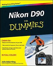 Nikon D90 For Dummies by Julie Adair King, NEW Book, FREE & FAST Delivery, (Pape