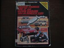 Chiltons Emission Diagnosis Tune Up Vacuum Diagrams 1984-1986 Cars Trucks