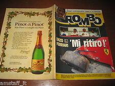 RIVISTA ROMBO 1987/30=ENZO FERRARI RITIRO=GP F1 GERMANIA=PIQUET=FERRARI F40=