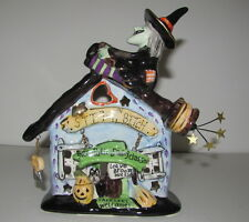 STITCH n BITCH Witch House Candle Holder Blue Sky Heather Goldminc NIB
