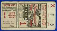 1929 World Series baseball ticket stub Philadelphia A's vs Chicago Cubs Gm 1