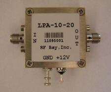 100KHz-10GHz Wideband RF Amplifier, LPA-10-20, New, SMA