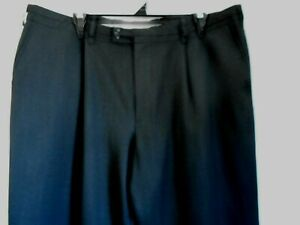 Mens Charcoal Grey 100% Wool Dress Pants ANTHONY SQUIRES 104 R