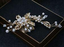 Pearls Wedding Hair Comb Crystal Bridal Accessories Rhinestone Headdress 1 Piece