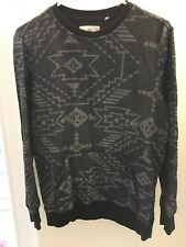 Mens Size Small On The Byas Sweatshirt Front Hand Pocket On Stomach Black grey