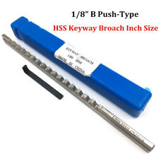 "Keyway Broach 1/8"" Inch Size B Push Type HSS Keyway Cutter CNC Metalworking Tool"