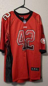 San Francisco 49ers Ronnie Lott #42 Nike Men's NFL On Field Jersey Size 52