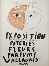 Pablo Picasso Poster,Tipped In, Offs.Lithograph,1971 Nr2, Exposition Poteries