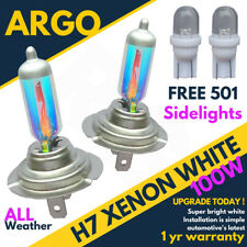 H7 100w Super Weather White Xenon 499 Car Headlight Bulbs 12v W5w Led Sidelights