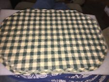 4 NEW GREEN AND CHECKERED COTTON PLACEMATS